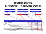journal entries posting t accounts demo