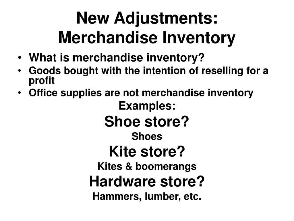 New Adjustments: