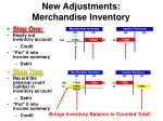 new adjustments merchandise inventory9