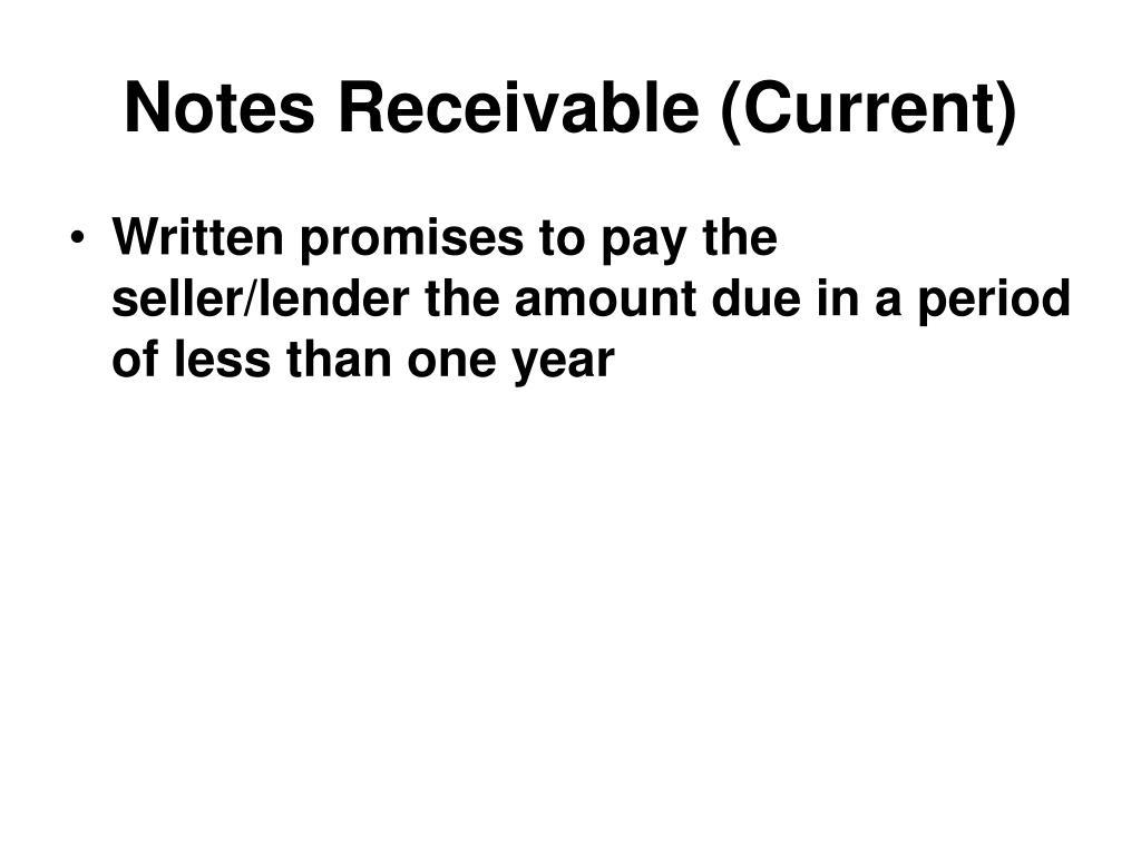 Notes Receivable (Current)