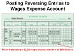 posting reversing entries to wages expense account