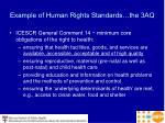 example of human rights standards the 3aq