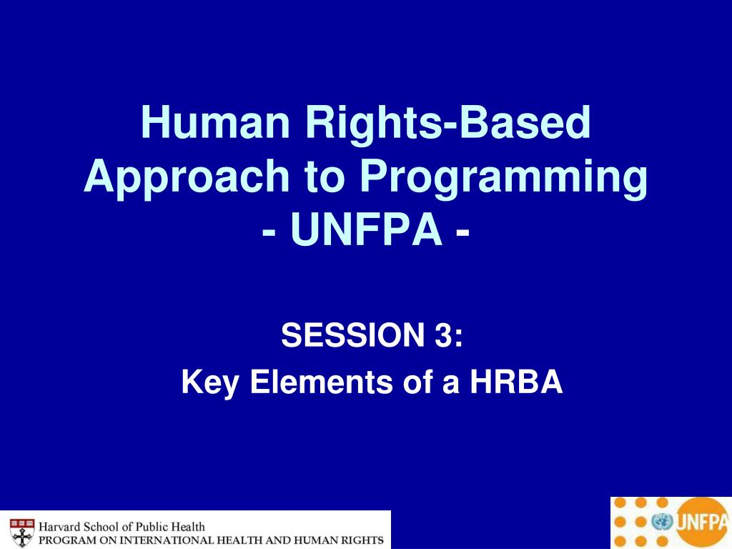 human rights based approach to programming unfpa l.