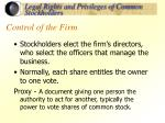 control of the firm