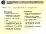 from the corporation s viewpoint