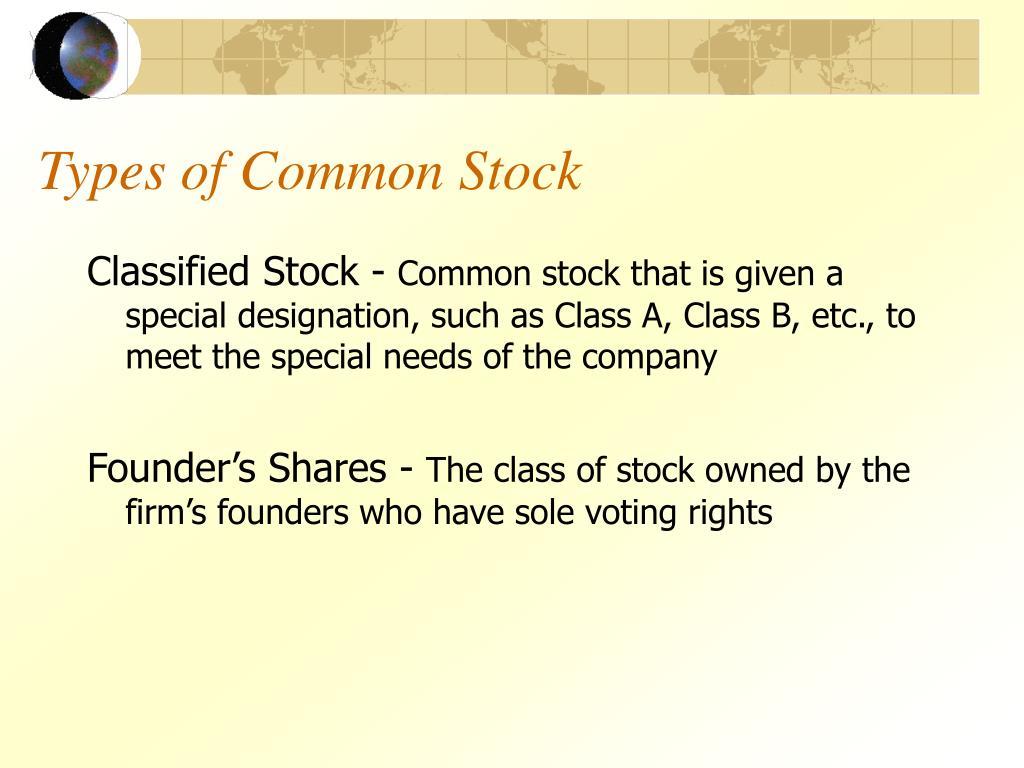 Types of Common Stock
