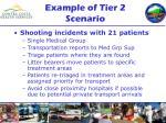 example of tier 2 scenario