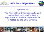 mci plan objectives10