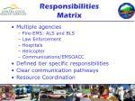 responsibilities matrix
