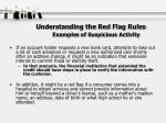 understanding the red flag rules examples of suspicious activity