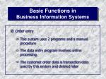 basic functions in business information systems