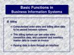 basic functions in business information systems10