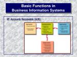 basic functions in business information systems11