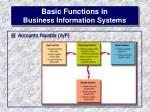 basic functions in business information systems14