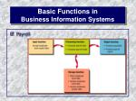 basic functions in business information systems15