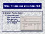 order processing system cont d24