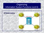 organizing information system functions cont d53