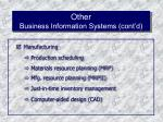 other business information systems cont d48