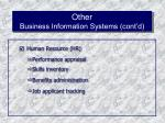 other business information systems cont d50