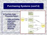 purchasing systems cont d