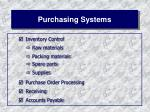 purchasing systems