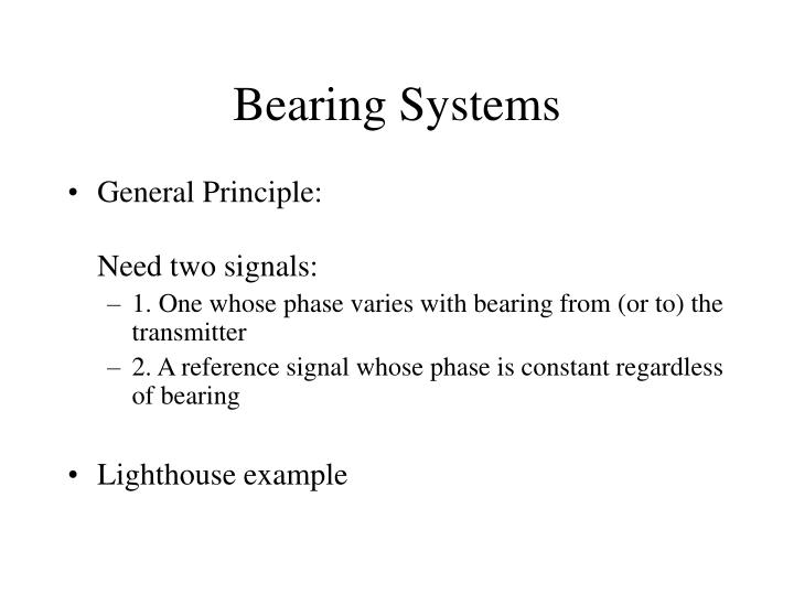 bearing systems n.