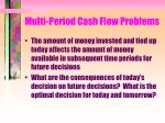 multi period cash flow problems