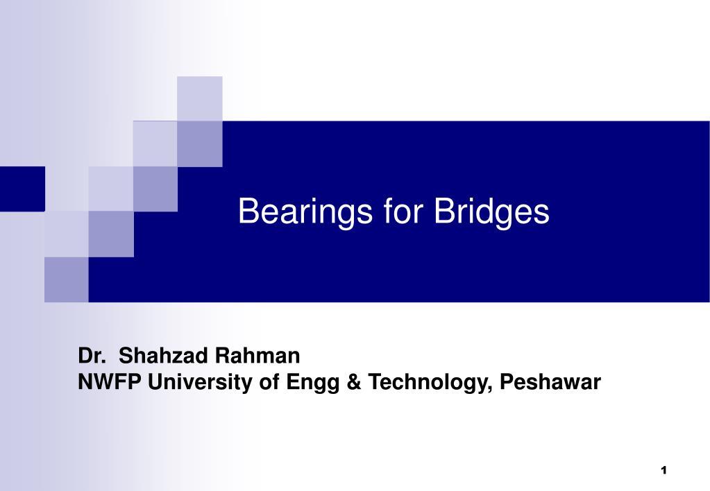 bearings for bridges l.