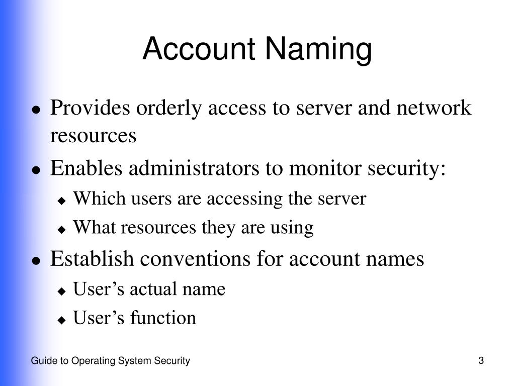 Account Naming
