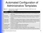 automated configuration of administrative templates