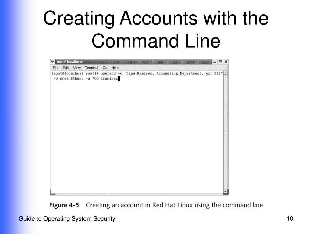 Creating Accounts with the  Command Line