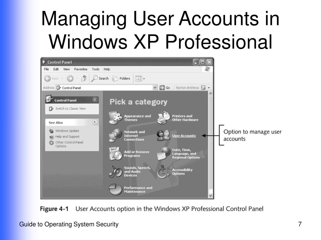 Managing User Accounts in Windows XP Professional
