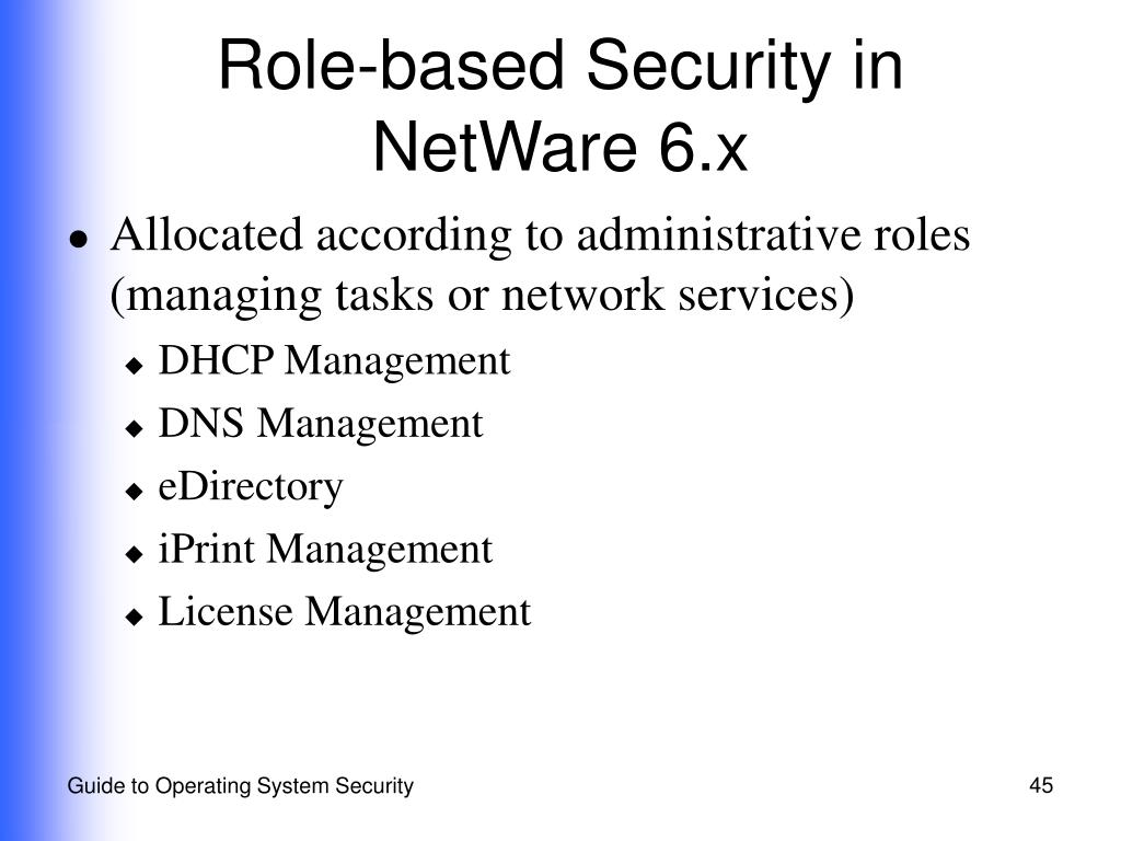 Role-based Security in