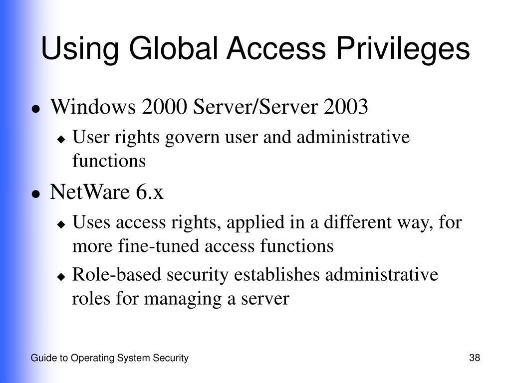 Using Global Access Privileges