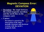 magnetic compass error deviation