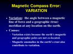 magnetic compass error variation