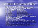 overhaul kit instructions