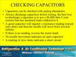 checking capacitors
