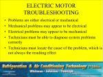 electric motor troubleshooting