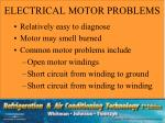 electrical motor problems