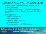 mechanical motor problems