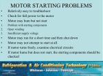 motor starting problems