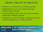 short circuit to ground