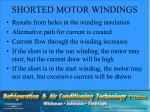 shorted motor windings