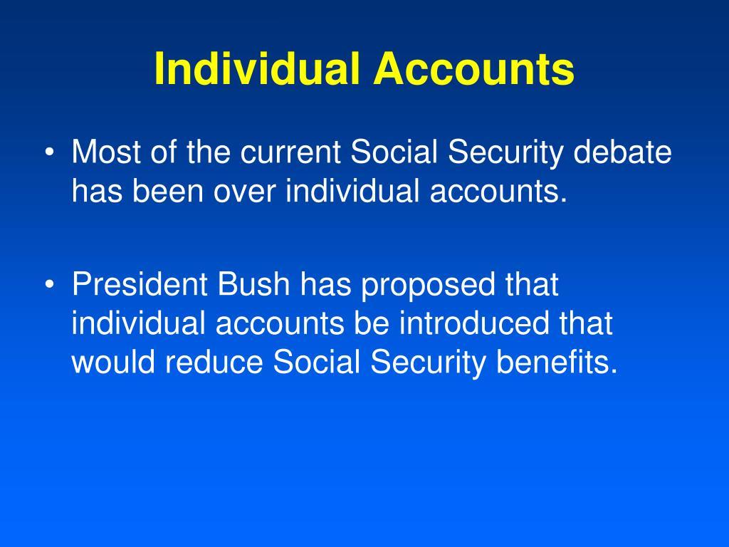 Individual Accounts