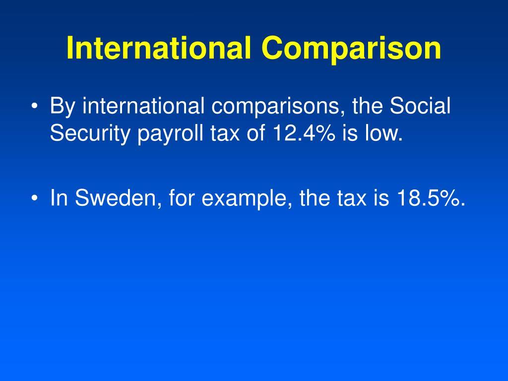 International Comparison