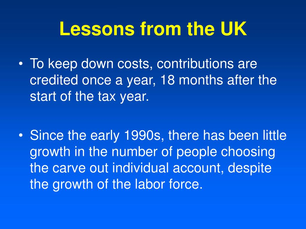 Lessons from the UK