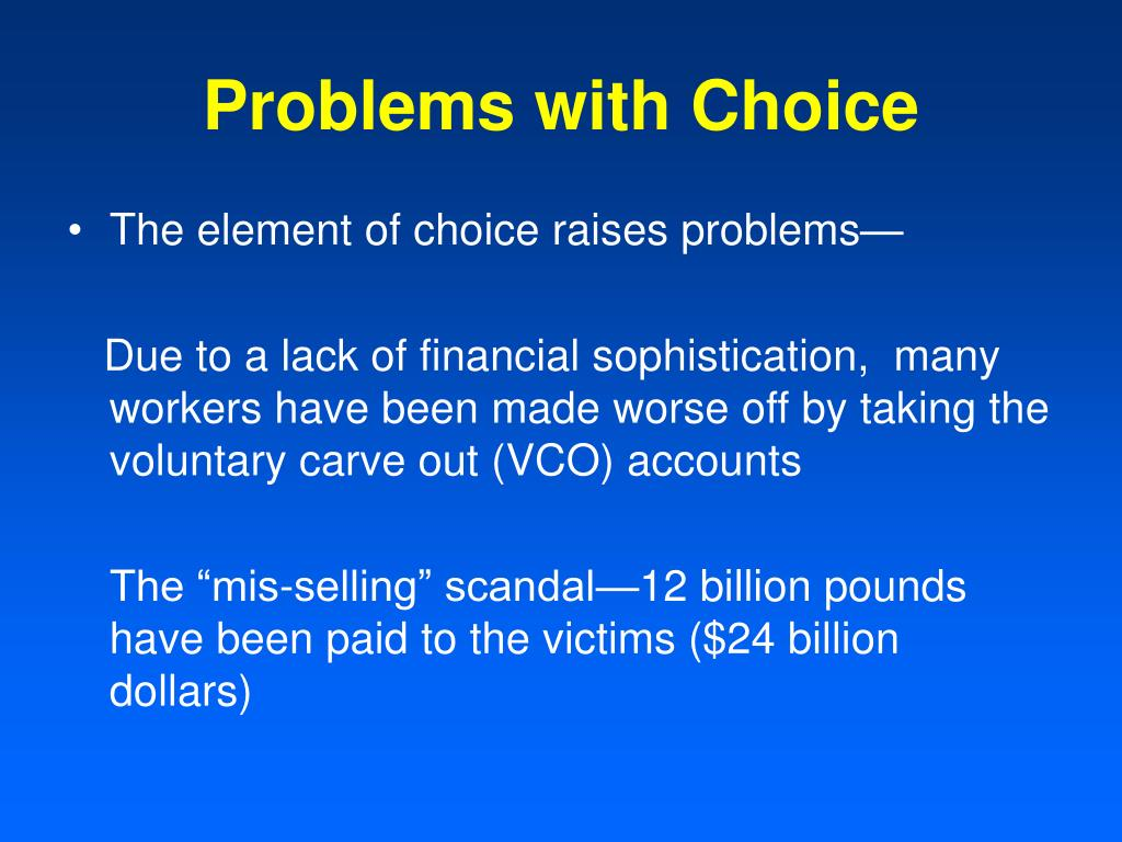 Problems with Choice