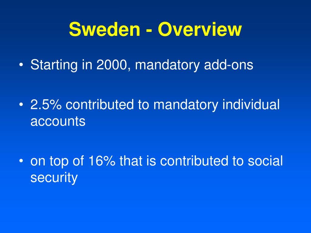 Sweden - Overview