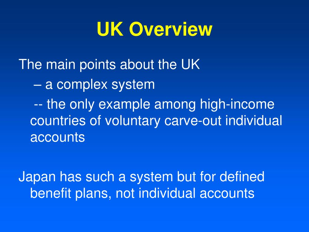 UK Overview